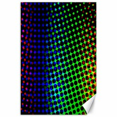 Digitally Created Halftone Dots Abstract Background Design Canvas 24  X 36  by Nexatart