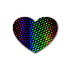 Digitally Created Halftone Dots Abstract Background Design Heart Coaster (4 Pack)