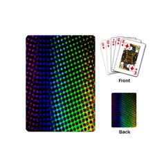 Digitally Created Halftone Dots Abstract Background Design Playing Cards (mini)
