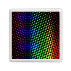 Digitally Created Halftone Dots Abstract Background Design Memory Card Reader (square)