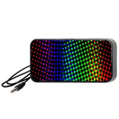 Digitally Created Halftone Dots Abstract Background Design Portable Speaker (black)