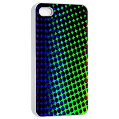 Digitally Created Halftone Dots Abstract Background Design Apple Iphone 4/4s Seamless Case (white)
