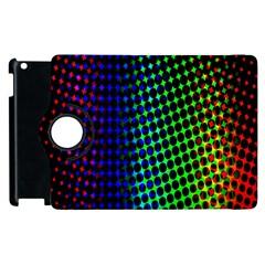 Digitally Created Halftone Dots Abstract Background Design Apple Ipad 3/4 Flip 360 Case by Nexatart