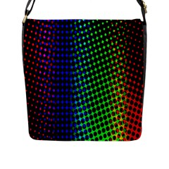 Digitally Created Halftone Dots Abstract Background Design Flap Messenger Bag (l)