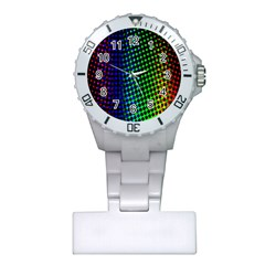 Digitally Created Halftone Dots Abstract Background Design Plastic Nurses Watch by Nexatart