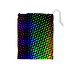 Digitally Created Halftone Dots Abstract Background Design Drawstring Pouches (medium)  by Nexatart