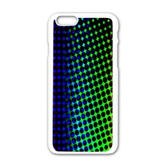 Digitally Created Halftone Dots Abstract Background Design Apple Iphone 6/6s White Enamel Case