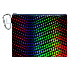 Digitally Created Halftone Dots Abstract Background Design Canvas Cosmetic Bag (xxl) by Nexatart