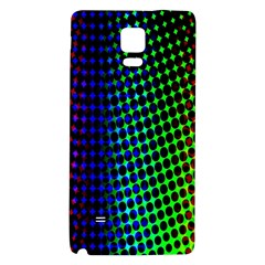 Digitally Created Halftone Dots Abstract Background Design Galaxy Note 4 Back Case