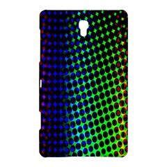 Digitally Created Halftone Dots Abstract Background Design Samsung Galaxy Tab S (8 4 ) Hardshell Case
