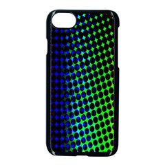 Digitally Created Halftone Dots Abstract Background Design Apple Iphone 7 Seamless Case (black) by Nexatart