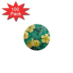 Yellow Flowers At Nature 1  Mini Magnets (100 Pack)  by dflcprints