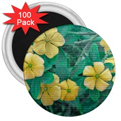 Yellow Flowers At Nature 3  Magnets (100 Pack) by dflcprints