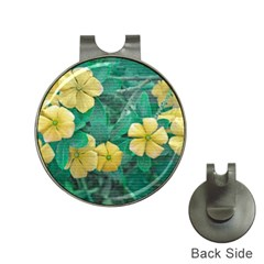 Yellow Flowers At Nature Hat Clips With Golf Markers by dflcprints
