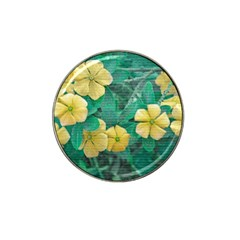 Yellow Flowers At Nature Hat Clip Ball Marker by dflcprints