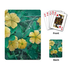 Yellow Flowers At Nature Playing Card by dflcprints