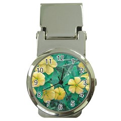 Yellow Flowers At Nature Money Clip Watches by dflcprints