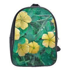 Yellow Flowers At Nature School Bag (large) by dflcprints