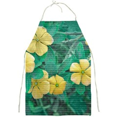 Yellow Flowers At Nature Full Print Aprons by dflcprints