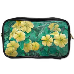 Yellow Flowers At Nature Toiletries Bags 2 Side by dflcprints