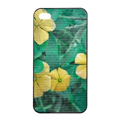 Yellow Flowers At Nature Apple Iphone 4/4s Seamless Case (black) by dflcprints