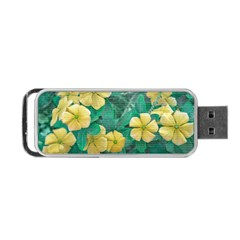 Yellow Flowers At Nature Portable Usb Flash (two Sides) by dflcprints