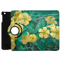 Yellow Flowers At Nature Apple Ipad Mini Flip 360 Case by dflcprints