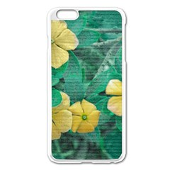 Yellow Flowers At Nature Apple Iphone 6 Plus/6s Plus Enamel White Case by dflcprints