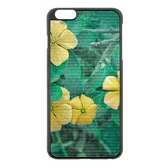 Yellow Flowers At Nature Apple Iphone 6 Plus/6s Plus Black Enamel Case by dflcprints
