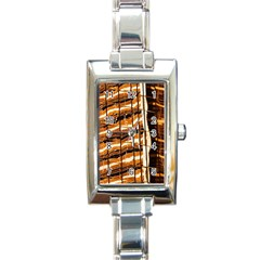 Abstract Architecture Background Rectangle Italian Charm Watch