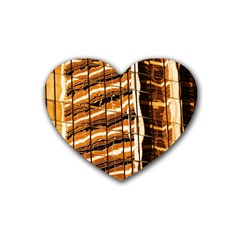 Abstract Architecture Background Rubber Coaster (heart)  by Nexatart
