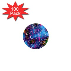 Background Chaos Mess Colorful 1  Mini Magnets (100 Pack)  by Nexatart