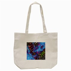 Background Chaos Mess Colorful Tote Bag (cream) by Nexatart