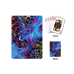 Background Chaos Mess Colorful Playing Cards (mini)