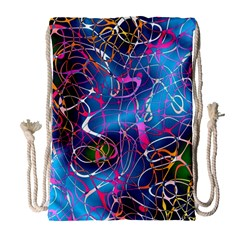 Background Chaos Mess Colorful Drawstring Bag (large)