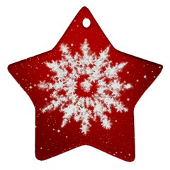 Background Christmas Star Ornament (star)