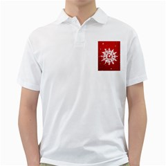 Background Christmas Star Golf Shirts