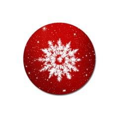 Background Christmas Star Magnet 3  (round)