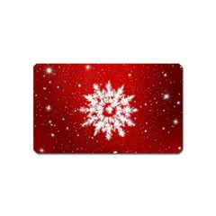 Background Christmas Star Magnet (name Card)