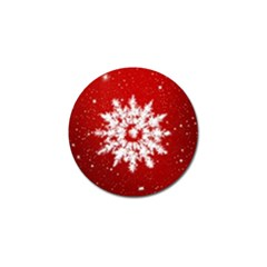 Background Christmas Star Golf Ball Marker (4 Pack) by Nexatart