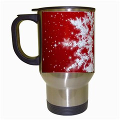 Background Christmas Star Travel Mugs (white)