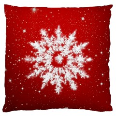 Background Christmas Star Large Cushion Case (one Side)