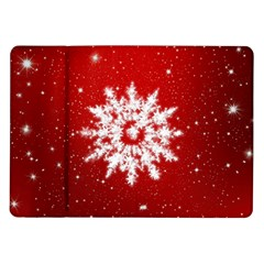 Background Christmas Star Samsung Galaxy Tab 10 1  P7500 Flip Case