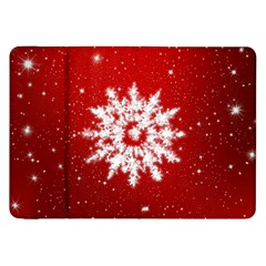 Background Christmas Star Samsung Galaxy Tab 8 9  P7300 Flip Case by Nexatart