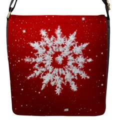 Background Christmas Star Flap Messenger Bag (s)