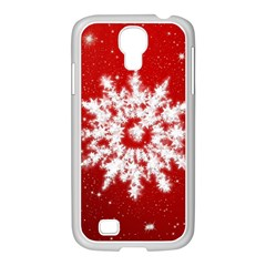 Background Christmas Star Samsung Galaxy S4 I9500/ I9505 Case (white) by Nexatart