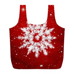 Background Christmas Star Full Print Recycle Bags (l)