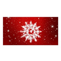 Background Christmas Star Satin Shawl