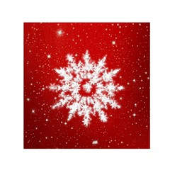 Background Christmas Star Small Satin Scarf (square)