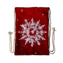 Background Christmas Star Drawstring Bag (small) by Nexatart